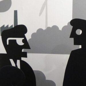 Installatie Max Kisman met o.a opa Jip en oma Janneke